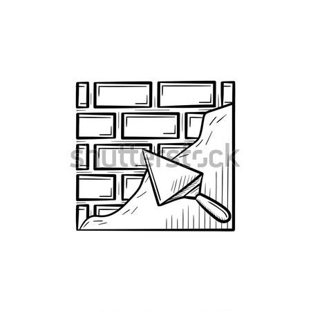 Spatule brique ligne icône web Photo stock © RAStudio