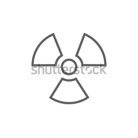 Ionizing radiation sign line icon. Stock photo © RAStudio