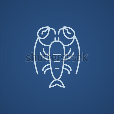 омаров линия икона уголки веб мобильных Сток-фото © RAStudio