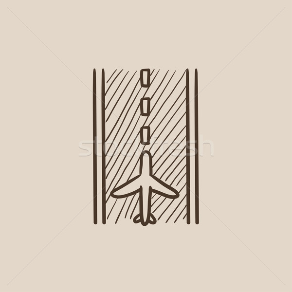 Airport runway sketch icon. Stock photo © RAStudio