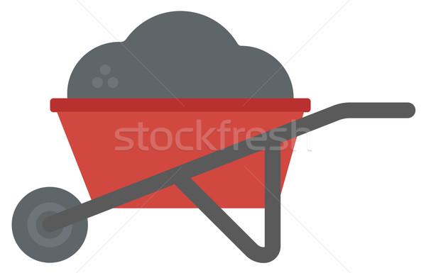 El arabası tok kum vektör dizayn örnek Stok fotoğraf © RAStudio
