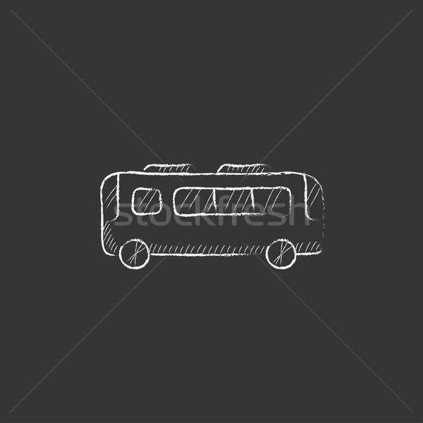 Bus. Drawn in chalk icon. Stock photo © RAStudio