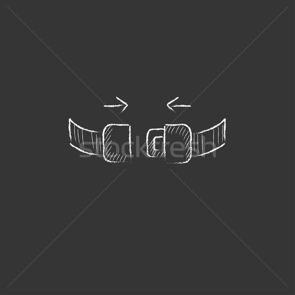 座席 ベルト チョーク アイコン 手描き ストックフォト © RAStudio