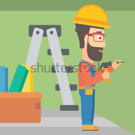 Painter with paint roller. Stock photo © RAStudio