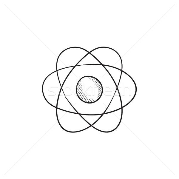 Atomo sketch icona vettore isolato Foto d'archivio © RAStudio