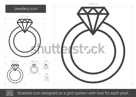 Diamond ring sketch icon. Stock photo © RAStudio