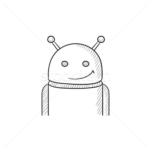 Android schets icon vector geïsoleerd Stockfoto © RAStudio