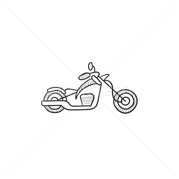 Motorcycle sketch icon. Stock photo © RAStudio