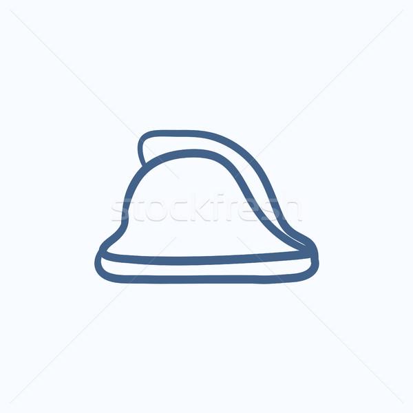 Firefighter helmet sketch icon. Stock photo © RAStudio