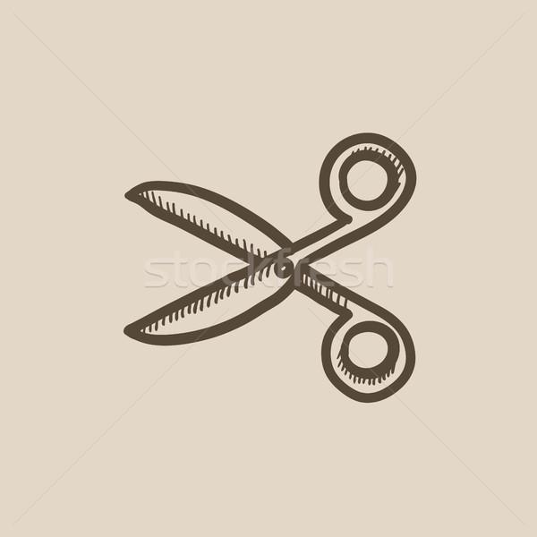 Scissors sketch icon. Stock photo © RAStudio