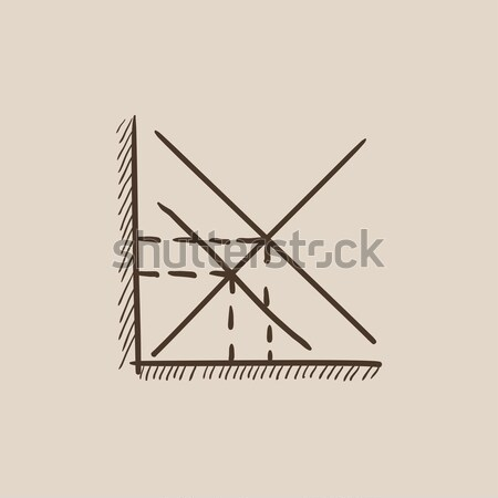 Mathematical graph sketch icon. Stock photo © RAStudio