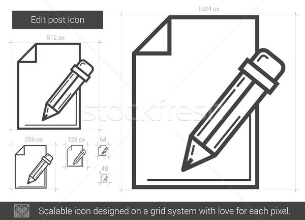 Post ligne icône vecteur isolé blanche Photo stock © RAStudio