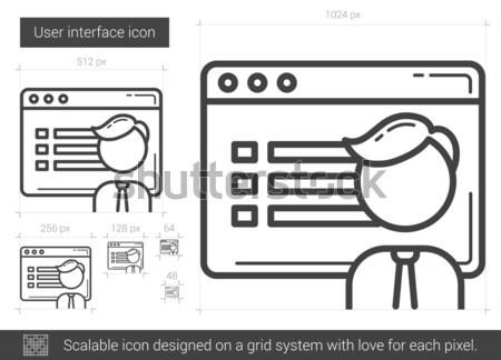User interface line icon. Stock photo © RAStudio