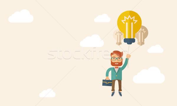 üzlet ötlet kaukázusi hipszter szakáll hordoz Stock fotó © RAStudio