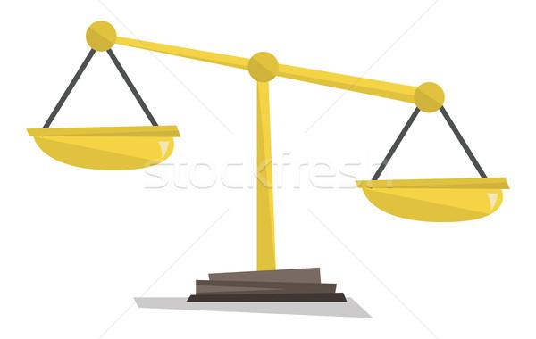 Gold scales of justice vector illustration. Stock photo © RAStudio
