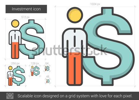 Investment line icon. Stock photo © RAStudio