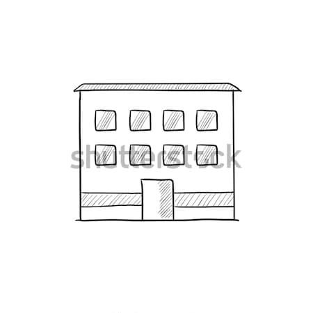 オフィスビル スケッチ アイコン ベクトル 孤立した 手描き ストックフォト © RAStudio