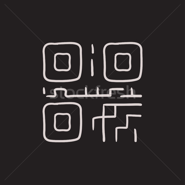 QR code sketch icon. Stock photo © RAStudio