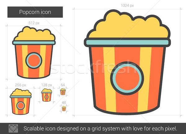 Popcorn line icon. Stock photo © RAStudio