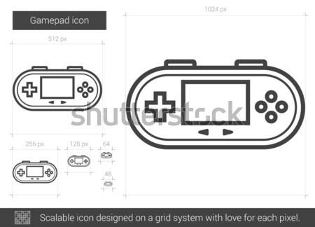 Gamepad line icona vettore isolato bianco Foto d'archivio © RAStudio