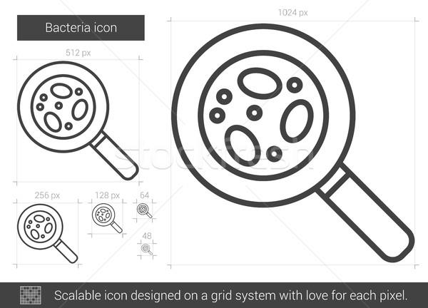 Bakteria line ikona wektora odizolowany biały Zdjęcia stock © RAStudio