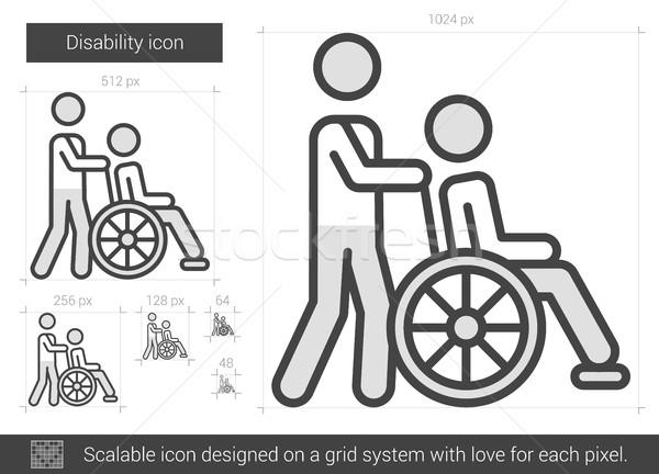 Handicap ligne icône vecteur isolé blanche Photo stock © RAStudio