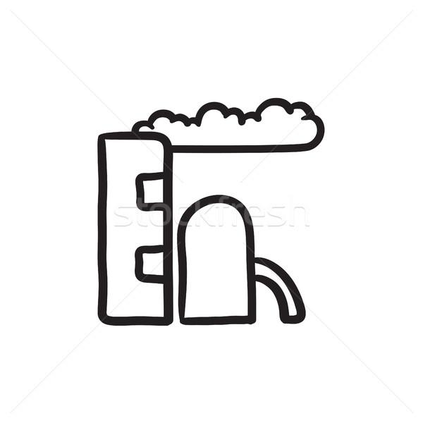 Refinery plant sketch icon. Stock photo © RAStudio