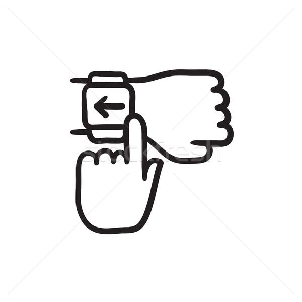 Smartwatch sketch icon. Stock photo © RAStudio