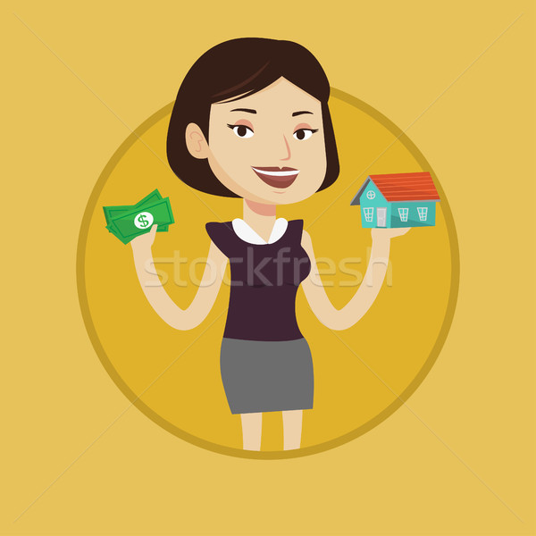 女性 買い 家 感謝 ローン ストックフォト © RAStudio