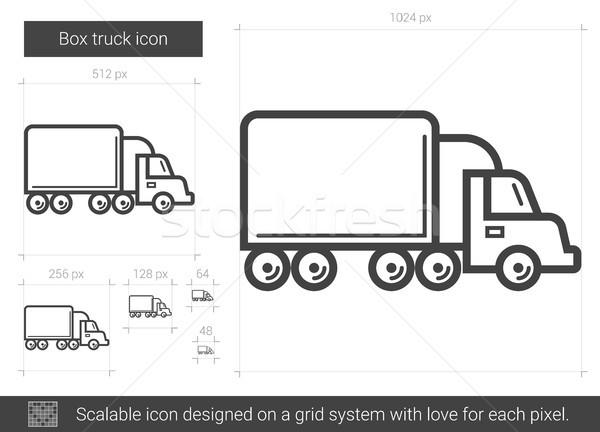 Box truck line icon. Stock photo © RAStudio