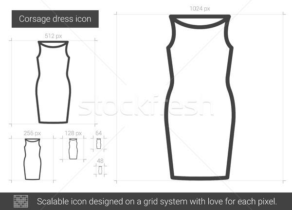 Corsage dress line icon. Stock photo © RAStudio