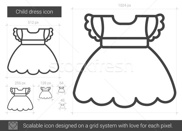 Child dress line icon. Stock photo © RAStudio