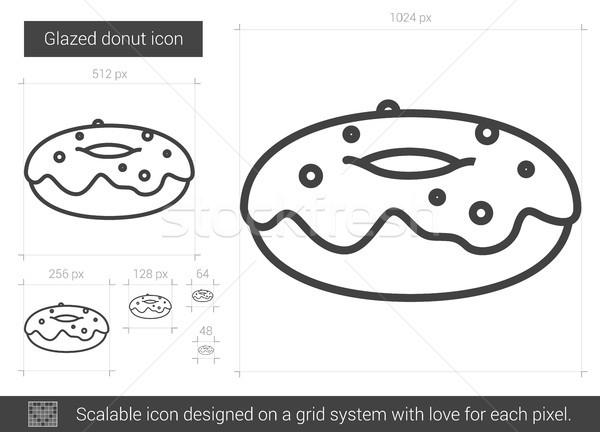 Glazed donut line icon. Stock photo © RAStudio