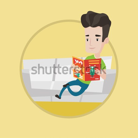 Successful hindu businessman reading magazine. Stock photo © RAStudio