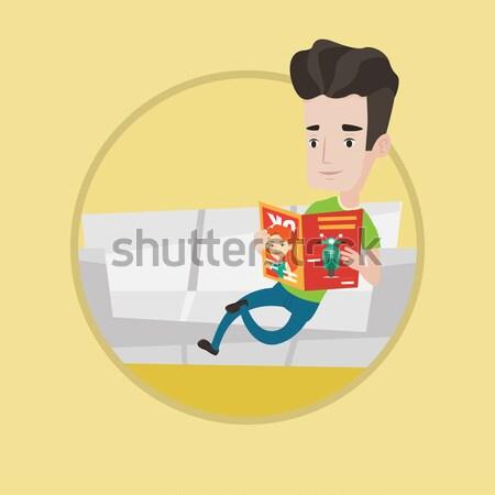 成功した ビジネスマン 読む 雑誌 小さな ストックフォト © RAStudio