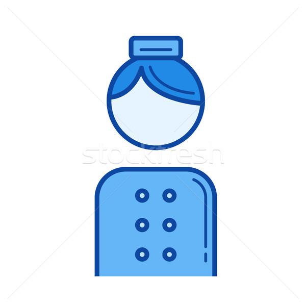 Portero línea icono vector aislado blanco Foto stock © RAStudio
