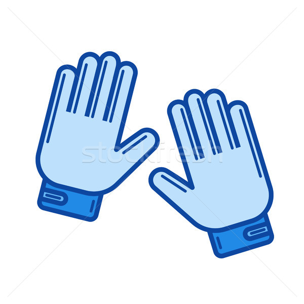 Moto gloves line icon. Stock photo © RAStudio