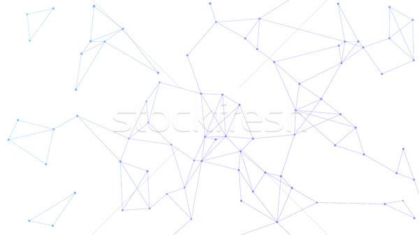 Blockchain technology futuristic abstract vector banner. Stock photo © RAStudio