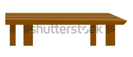 Marrom mesa de café vetor desenho animado ilustração madeira Foto stock © RAStudio