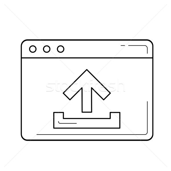 Upload file to browser line icon. Stock photo © RAStudio