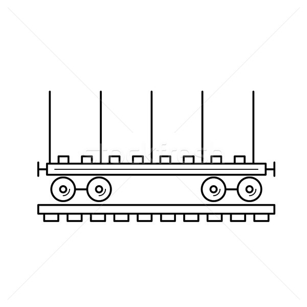 Wagon locomotive line icon. Stock photo © RAStudio