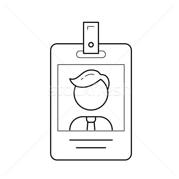 Identificación tarjeta vector línea icono aislado Foto stock © RAStudio