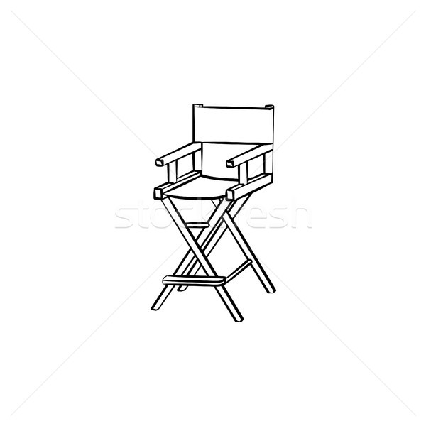 Movie director chair hand drawn sketch icon. Stock photo © RAStudio