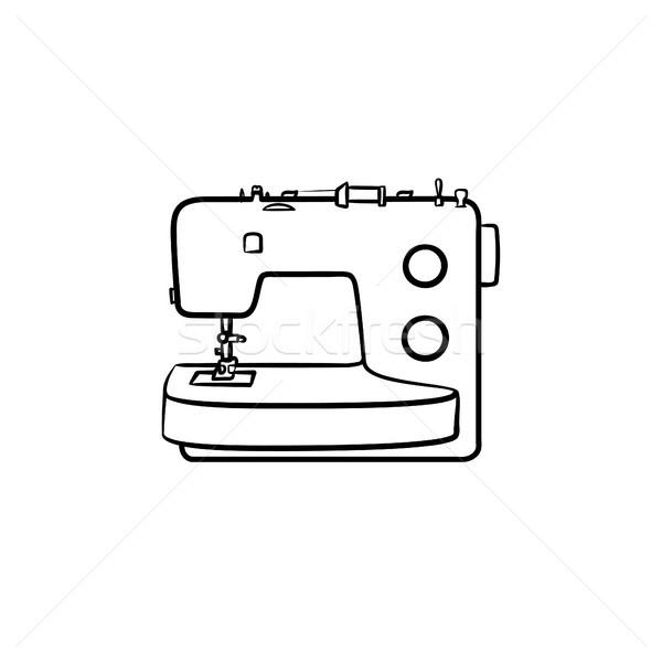 рисованной эскиз икона болван вектора Сток-фото © RAStudio