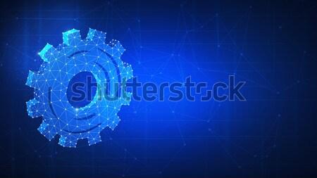 Technology gear futuristic hud background. Stock photo © RAStudio