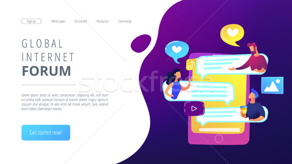 Internet forum concept vector illustration. Stock photo © RAStudio