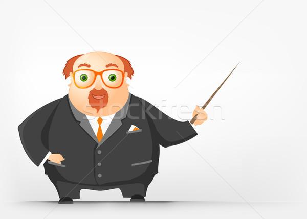 ぽってり 男 背景 にログイン 楽しい ストックフォト © RAStudio