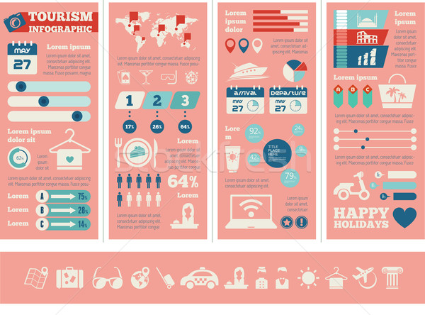 Travel Infographic Template. Stock photo © RAStudio