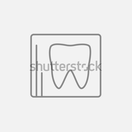 X-ray of the tooth icon drawn in chalk. Stock photo © RAStudio