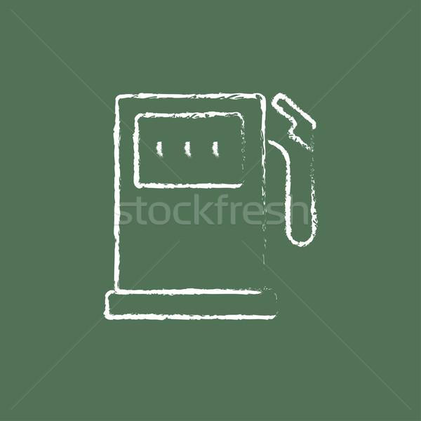 Posto de gasolina ícone giz lousa Foto stock © RAStudio